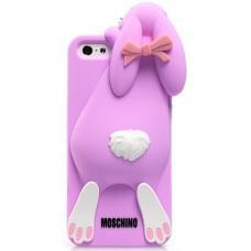 Силиконовый чехол Moschino розовый