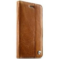 Чехол-книжка кожаный коричневый