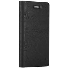 Чехол-книжка кожаный черный
