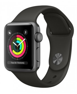 Apple Watch Series 3 38mm Space Gray/Black - фото 1