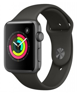 Apple Watch Series 3 38mm Space Gray/Gray - фото 1