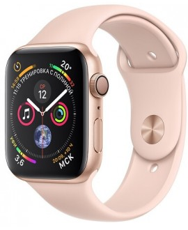 Apple Watch Series 4 44mm Gold / Sport Rose - фото 1