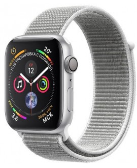 Apple Watch Series 4 44mm Silver / Seashell loop - фото 1