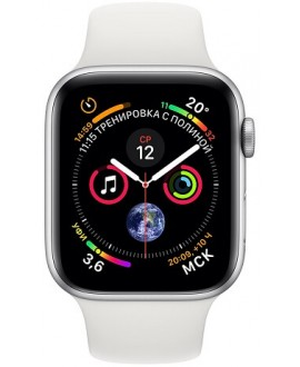 Apple Watch Series 4 44mm Silver / Sport White - фото 2