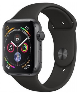 Apple Watch Series 4 40mm Space Gray / Sport Black - фото 1