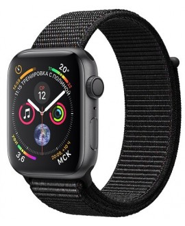 Apple Watch Series 4 44mm Space Gray / Black loop - фото 1