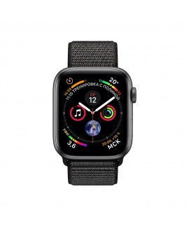 Apple Watch Series 4 44mm Space Gray / Black loop - фото 2