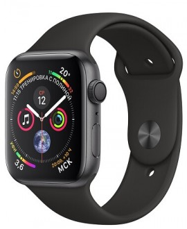 Apple Watch Series 4 44mm Space Gray / Sport Black - фото 1