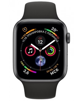 Apple Watch Series 4 44mm Space Gray / Sport Black - фото 2